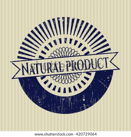 Natural Product grunge style stamp