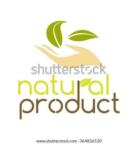 Natural product logo design vector template.