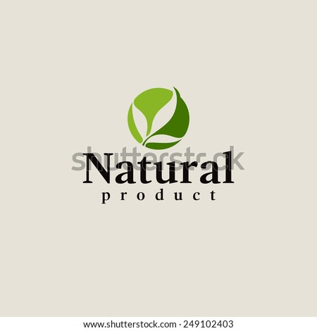 natural product logo design