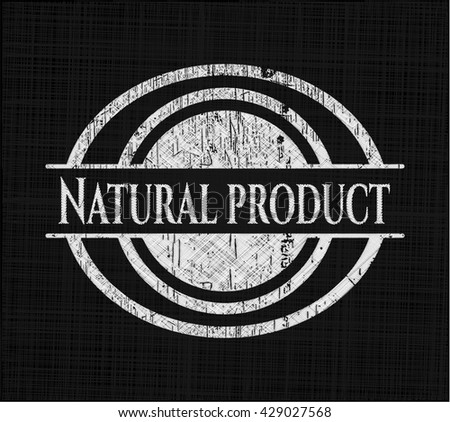 Natural Product on blackboard