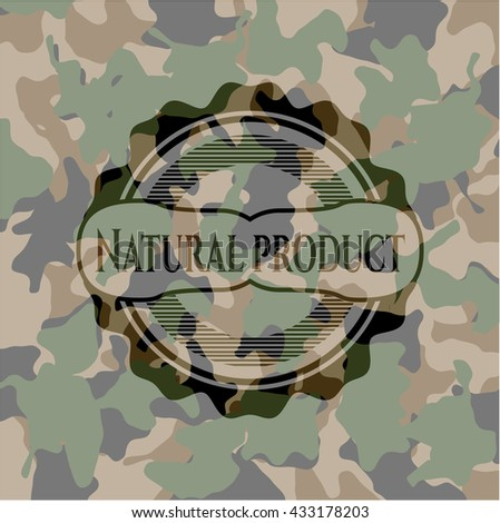 Natural Product on camouflaged pattern