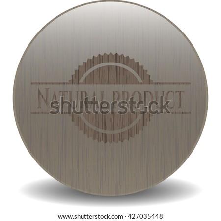 Natural Product retro wooden emblem