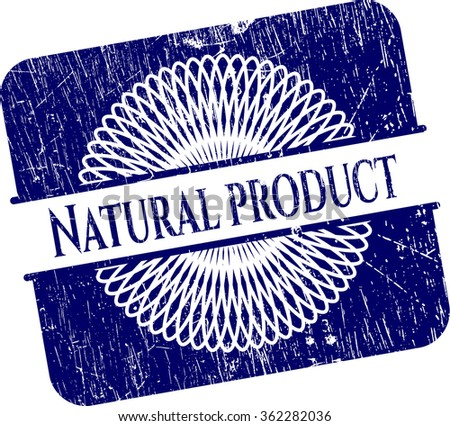 Natural Product rubber grunge texture stamp