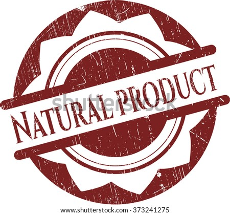 Natural Product rubber seal with grunge texture