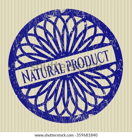 Natural Product rubber stamp