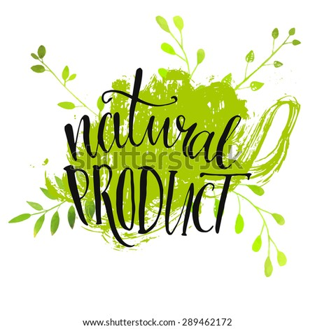 natural product sticker