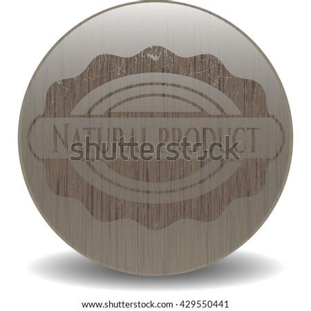 Natural Product vintage wood emblem