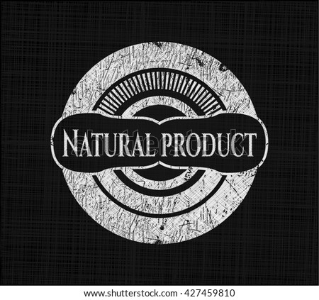 Natural Product written on a blackboard