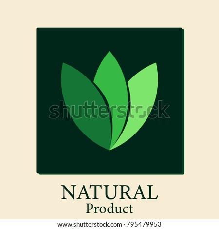 Natural products natural.logo natural vector, background black rectangular frame #795479953