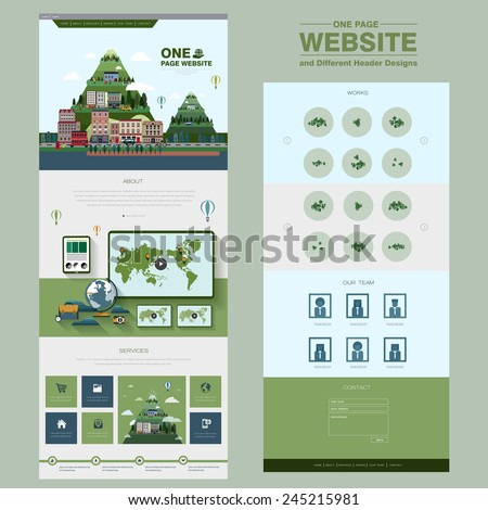 natural scenery one page
