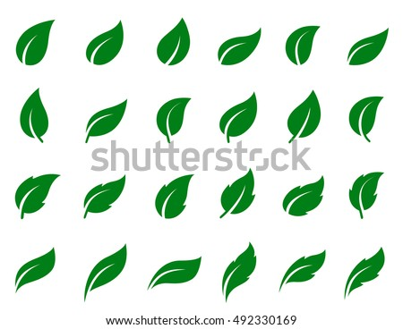 natural set of abstract green
