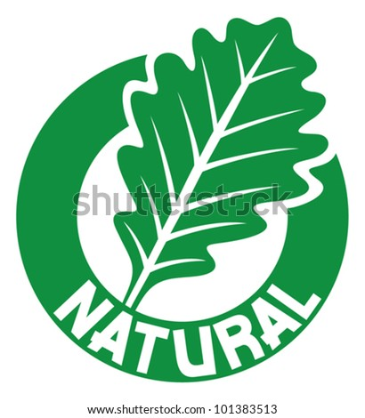 natural sign (oak leaf symbol)