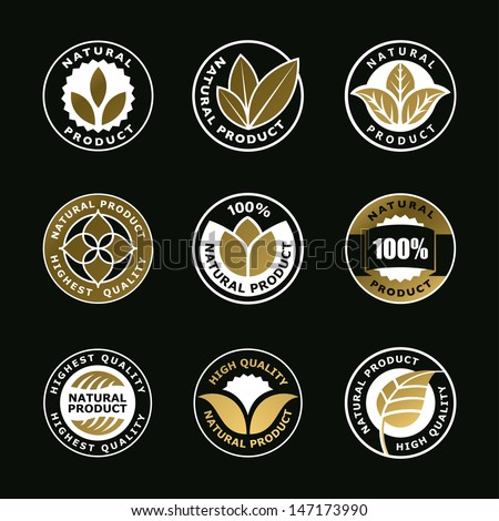 natural signs, logo elements, insignia, signs, vector set