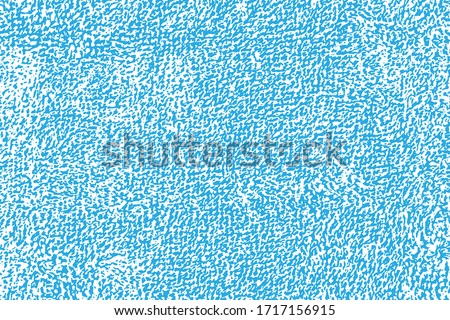 Natural texture of terry cloth. Close-up background of a cotton bath towel, blue on a white backdrop, easily editable in any other color. Overlay template. Vector illustration Stockfoto ©