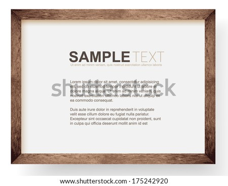 natural wooden photo frame