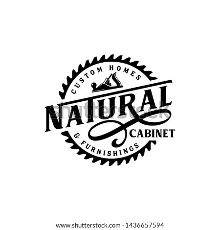 Natural woodworking carpentry logo design - vector #1436657594