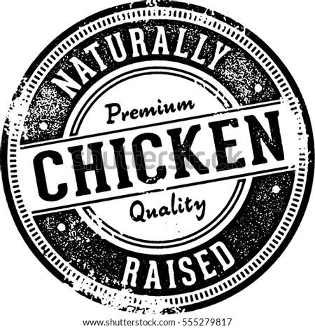 Naturally Raised Chicken Sign/Stamp