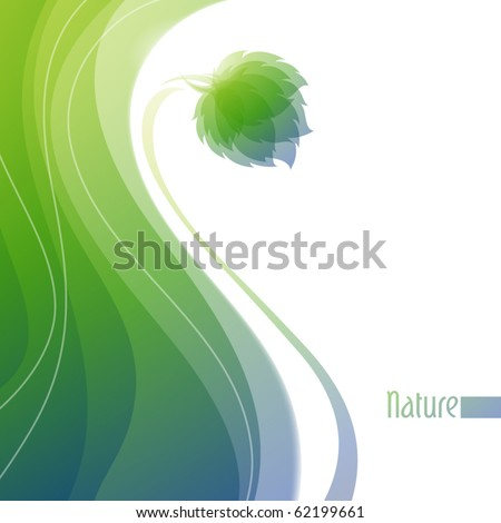 Nature. Abstract background. Vector illustration.