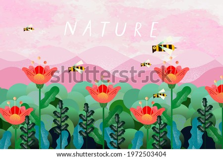 nature and landscape vector