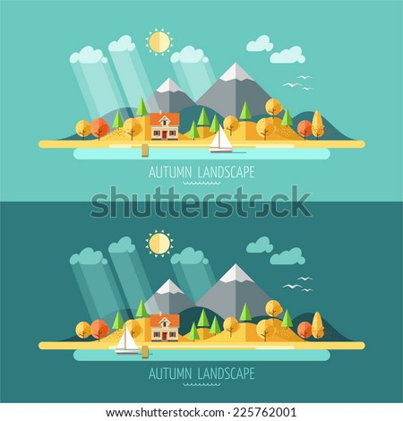 nature   autumn landscape