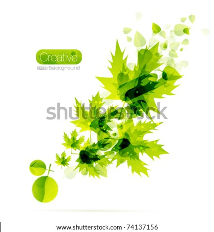 Nature background. Abstract floral design. Vector illustration