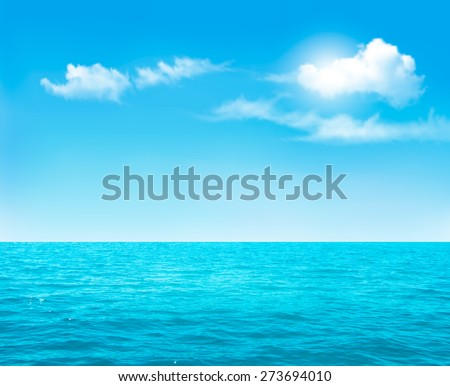 nature background   blue ocean