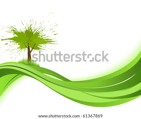 Nature background. Eco concept. Abstract green vector illustration with copyspase.