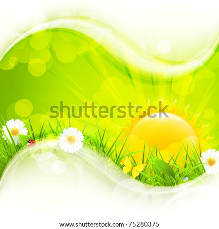 Nature Background, 10eps - stock vector