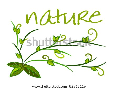 Nature background - green ecology illustration,vector