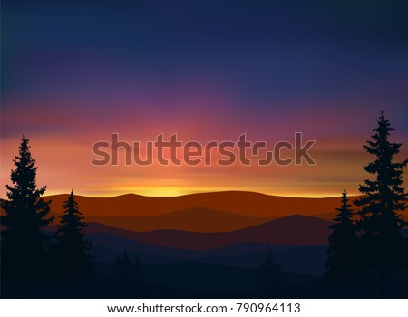 nature background of mountains