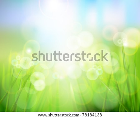 Nature background. Vector illustration. - stock vector