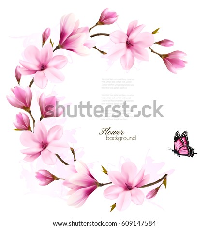 nature background with blossom