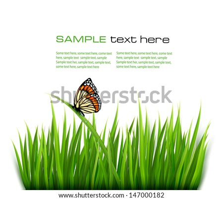 nature background with green