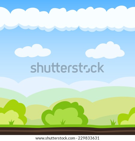 nature background with hill