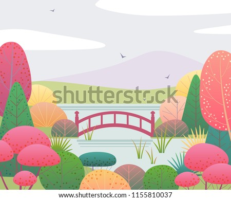nature background with japanese