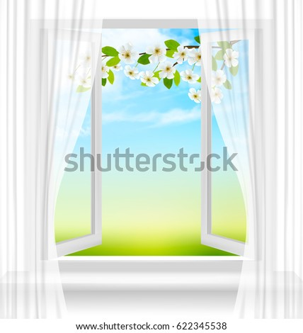 nature background with open