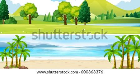 nature beach themed background
