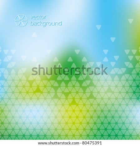 Nature blue green abstract background with cells