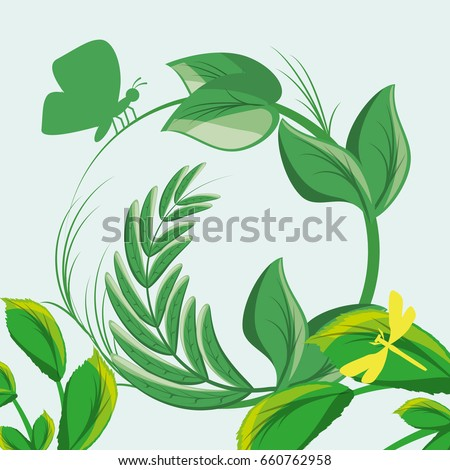 nature branches plants with leaves #660762958