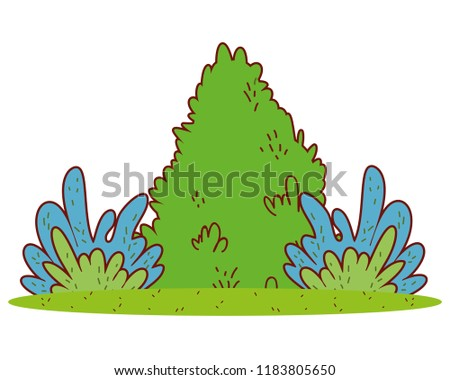 nature bush with nature plants landscape #1183805650