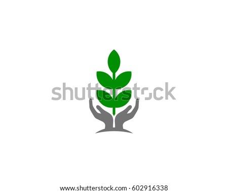 nature care logo design element