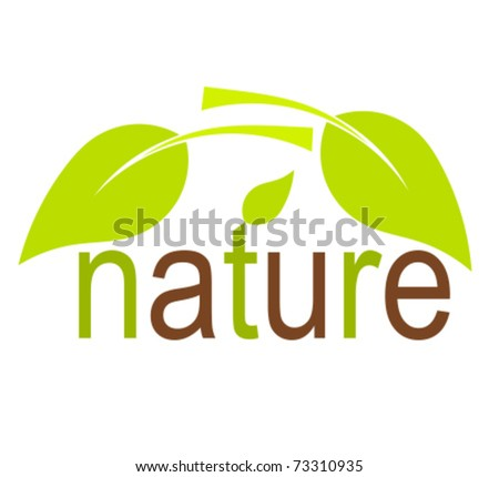 Nature concept with green leaves. Vector illustration