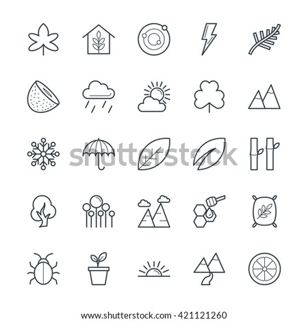nature cool vector icons 2