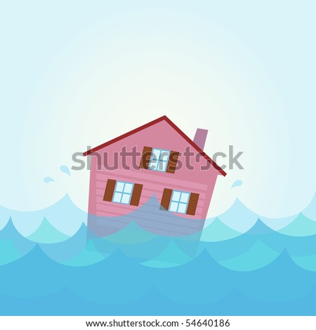 nature disaster  house flood