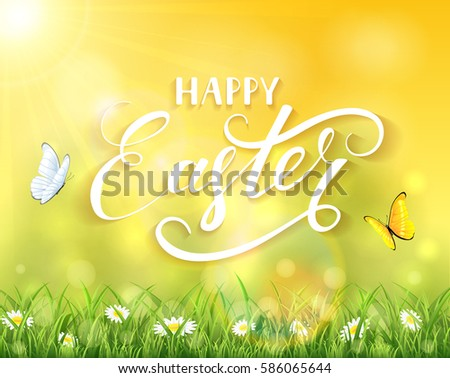 nature easter background with a