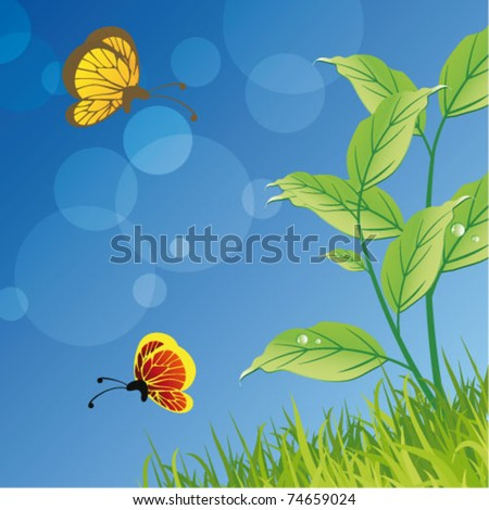 Nature ecology poster and website page stock vector