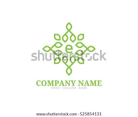 nature element logo design