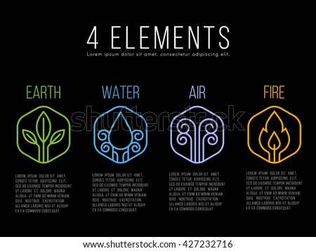 nature 4 elements circle logo