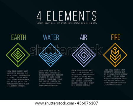 nature 4 elements diamond