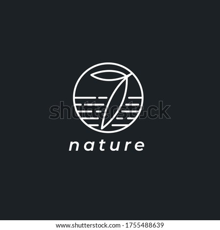 nature elements template logo